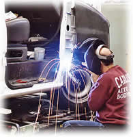 welding at Carlisle Auto Body